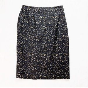 Elie Tahari Pencil Skirt Leopard Animal Print